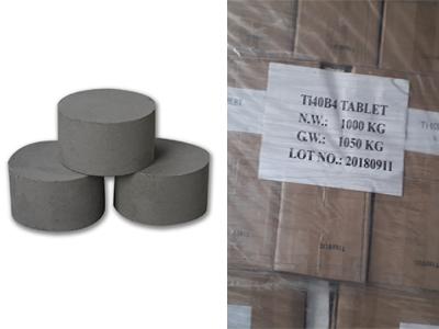Ti-B Grain Refining Flux Ti30B3 - Ti40B4 (30%Ti or 40%Ti)